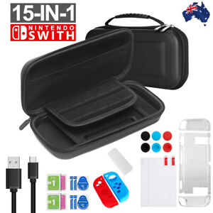 For Nintendo Switch Travel Case Storage Bag +Screen Protector +Cover Accessories