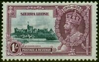 Sierra Leone 1935 Jubilé 1s Ardoise & Violet SG184b Court Extra Flagstaff Scarce