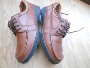 CLARKS CUSHION CELL  BROWN LEATHER SHOES SIZE UK 8