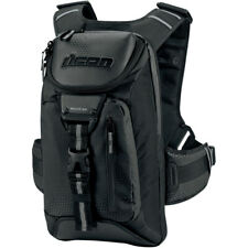 Icon Squad 3 Street Motorcycle Back Pack Black Reflective NEW