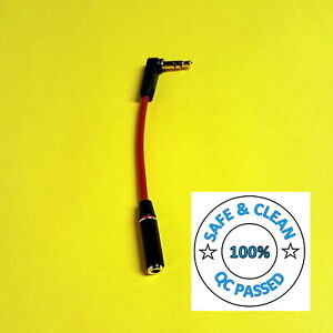 The 'Lil Red Whip- 3.5mm Right Angle Pro short Headphone Extension f/Headphones