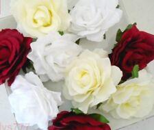 Lot 5 Têtes de roses fleur artificielle10cm.couleur au choix décoration mariage.