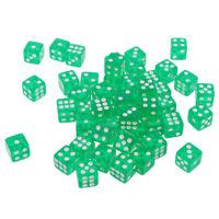 1 thru 6 dots 6 sided 2 Single Packs of Glow In the Dark Game Die//Dice