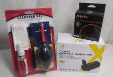 BUNDLED: Multi Power Battery Grip Nikon D5100/ ZEIKOS 52MM Hood / CLEANING KIT