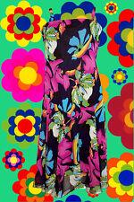 154✪  Kleid Prilblumen Hippie Blumenkinder Hängerchen 60er 70er Jahre Gr. 38
