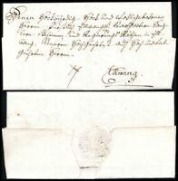 1782, Augsburg, kpl. portofreier und herrschaftlicher Dienstbrief nach Ellwangen