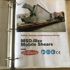 Stanley Labounty Msd Iiisv Mobile Shear Operation And Maintenance Manual