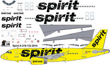 Spirit Airlines Airbus A-319 decals for Revell 1/144 kit