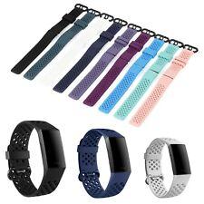 Ersatz Armband für Fitbit Charge 3 & 4 Fitness Sport Tracker Smartwatch Silikon