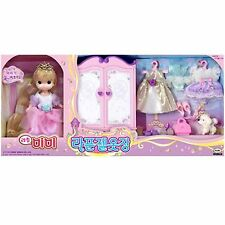 Little MIMI Rapunzel Closet Barbie Doll Role Play Korea Toy Girl Character Gift