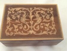 """Vintage Italian Inlaid Reuge 18 Note Music Box """" A Time For Us"""""""