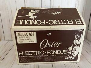 Vintage Oster Electric Fondue Set Harvest Gold NIB