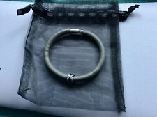 GENUINE ANTHENTIC ENDLESS SINGLE WRAP LEATHER BRACELET WITH CHARM