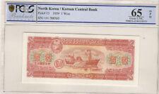 Korea 1959 Pick 13 Korean Central Bank 1 Won PCGS 65