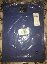Mens ABERCROMBIE Short Sleeve BLUE HENLEY 2XL XXL T Shirt Tee New NWT