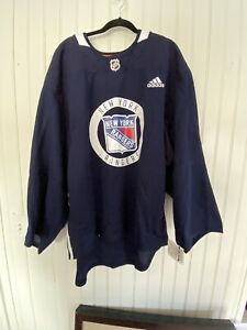 Adidas New York Rangers Players Pro Practice Jersey Black Mens Size 58 MSRP $280
