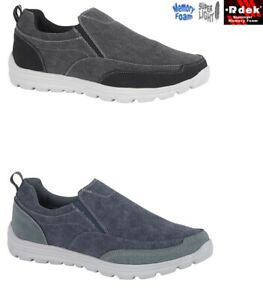 Mens Trainers Get Fit Slip On Memory Foam Casual Walking Driving Boat Shoes Size