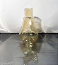 Vintage Brown Clear Glass Miniature Oil / Kerosene Lamp CHIMNEY / SHADE
