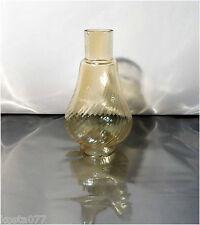 Vintage Brown Clear Glass Miniature Oil / Kerosene Lamp CHIMNEY / SHADE