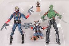 Marvel Universe GUARDIANS OF THE GALAXY Loose 100% Complete Set Of 4