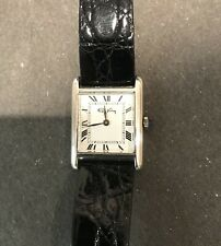 Vintage 1979 Roy King / Cartier / Tank watch / 925 Sterling Silver / immaculate