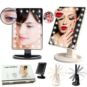 22 Led 10X Magnifying Touch Screen Light Make-Up Cosmetic Tabletop Vanity Mirror