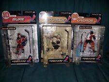 3 McFarlane Original Hockey figures Autographed Bure Borque Lindros