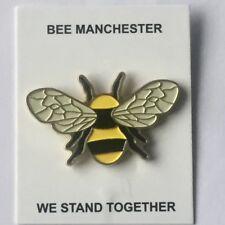 Manchester Worker Bee metal enamel badge