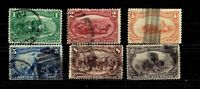 1898 U.S. CLASSIC Trans-Mississippi P/SET of 6 Sc#285-9 Used ** Scarce Issue