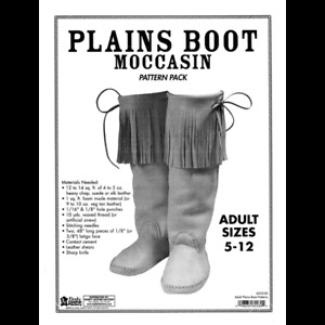 Adults Plain Boot Moccasin Pattern Pack 6035-00