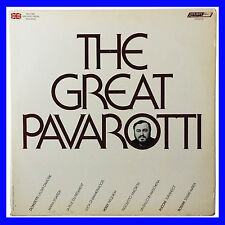 The Great Pavarotti Record Imported From England 1977 The Decca Record Co. Ltd.
