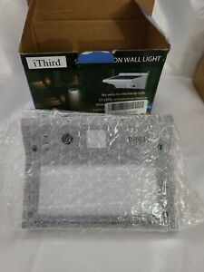 Solar Lights Outdoor Motion Sensor, IThird LED Powered Security Stainless Steel