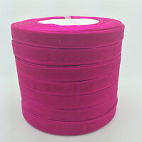 "50 yard Roll Spool 3/8"" 9mm Satin Edge Sheer Organza Ribbon Craft 12 color U"