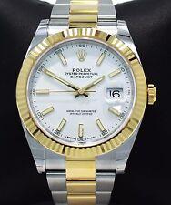 Rolex Datejust II 41mm 126333 Oyster 18K Yellow Gold/SS Watch 2017 B/P *UNWORN*