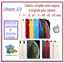 Chassis complet origine iphone 8-8+-X-XR-XS-Max-11 noir-blanc-or-rouge-argent