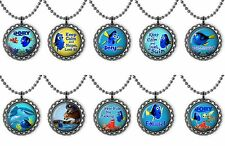 Finding Dory Bottle Cap Necklace Birthday Party Favors Lot of 10 for Goody Bags