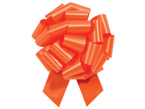 """Flora Satin 4"""" Pull Bows 18 Loops Choose Color and Pack amount"""