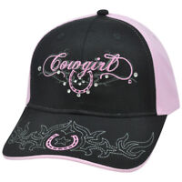 Cowgirl Ranch Rodeo Rhinestones Gems Horseshoe Womens Ladies Relaxed Hat Cap