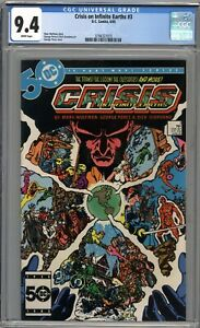 Crisis On Infinite Earths #3 CGC 9.4 NM WHITE PAGES