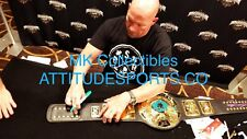 WWF/WWE ATTITUDE ERA BELT SIGNED STEVE AUSTIN & THE UNDERTAKER  W/ PROOF + JSA