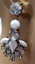 Crystal Pierced Pendant Crystal Earrings New Cool White Resin Gold Sparkling