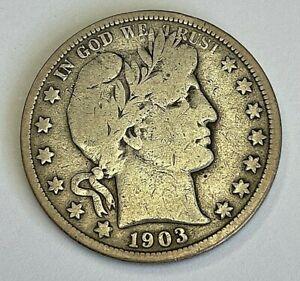 1903 O Barber Half Dollar Very Good VG