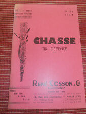 CATALOGUE D'ARME COSSON FUSILS - PISTOLETS 1964 ( ref 46 )