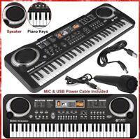 61 Key Electronic Keyboard Electric Music Digital Piano Organ with Mic