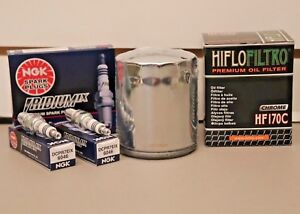 Harley Davidson Sportster 883 1200 HD Tune Up Oil Filter NGK Iridium Spark Plugs