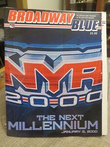 TWO (2) BROADWAY BLUE---NEW YORK RANGERS vs. ST. LOUIS BLUES 1/3/2000 PROGRAMS