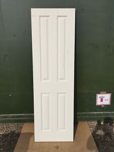 """DIF0631 Howdens Thruxton Grained 4 Panel 2'0"""" Moulded FD30 Fire Door"""
