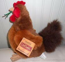 """Dakin Lou Rankin Little Friends ROOSTER CHICKEN Plush Stuffed Animal 11"""" NWT"""
