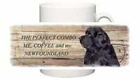NEWFOUNDLAND DOG CERAMIC MUG COMBO SANDRA COEN ARTIST WATERCOLOUR PRINT
