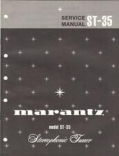 Marantz Service Manual ST 35 stereo tuner receiver Original Factory Repair Book